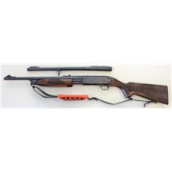 "Ithaca model 37 Deer Slayer 20 ga. SN 371529929 pump action shotgun with 19"" smooth bore barrel, ope"