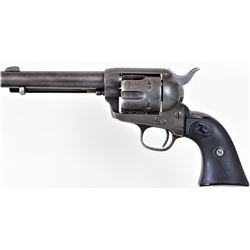 "Colt SA .45 SN 161941 black powder revolver with condemned period replaced and shortened 5"" barrel."