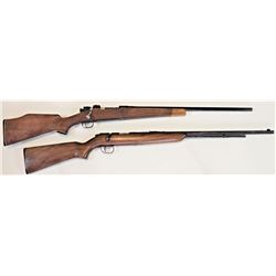 Collection of 2 rifles includes 1) US Eddystone 03-A3 .300 win SN 3993144 sporterized bolt action ri