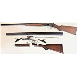 "Collection of 2 parts guns 1) Parker Grade 2 12 ga. SN 41700 SXS hammer shotgun with 32"" barrels, in"