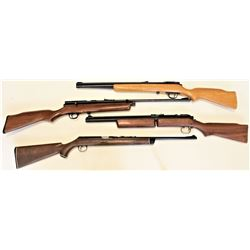 Collection of 4 includes 1) Daisy .22 VL caseless cartridge rifle very good condition 2) QB78 .177 p