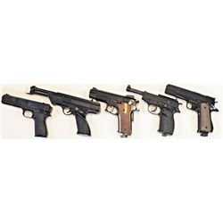 Collection of 5 bb gun pistols. From old St. Louis collection. FFL/Modern.  Est. 100-200From old St.