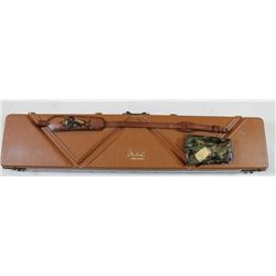 Weatherby rifle hardcase Gun guard, Weatherby leather sling and Weatherby camo vinyl cover.leather s