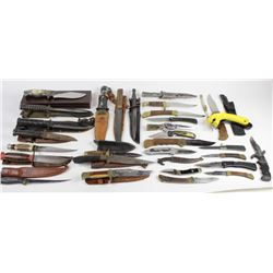 Collection of 32 misc. knives.