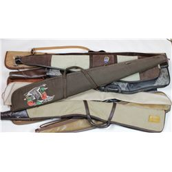 Collection of 12 rifle soft cases.