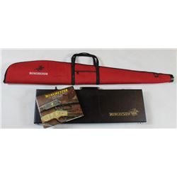 Collection of 3 includes Winchester fitted hardcase, Winchester An American Legend by RL Wilson and