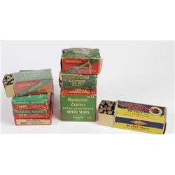 Assortment of vintage 7mm, 218 Bee, 20 ga. slug, 25-20 and 45 Colt. PICK UP ONLYga. slug, 25-20 and