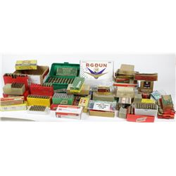 Assorted lot of ammo includes 38                 , 32 S&W, 223 Hornet, and 22 Jet. PICK UP ONLY32 S&
