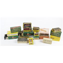 Assorted lot of ammo includes 38 32 S&W, 223 Hornet, and 22 Jet. PICK UP ONLY32 S&W, 223 Hornet, and