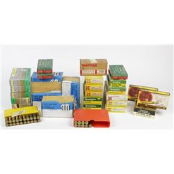 Assortment of .308 Win 8X57, .222, .243 , .300 Win mag, 224 Weatherby Magnum and .458 Win Mag. PICK