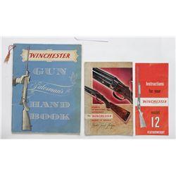 3 original Winchester brochures, Model 21 Double , Gun Salesman Hand book and Instructions for Model