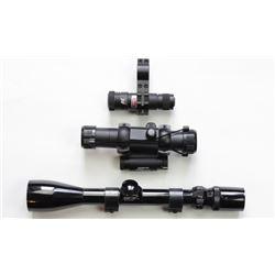 3 scopes including Bushnell Banner 3-9X40, Tasco