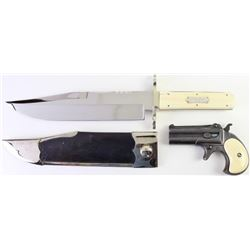 Collection of 2 from the Tommy L Bish (d.1998) collection, noted knife maker, firearms collector gun