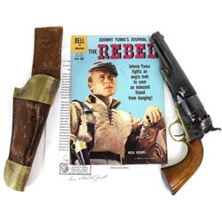 """Johnny Yumas Belgium model 1860 .44 cal. revolver and holster from the 1959-1961 television series """""""