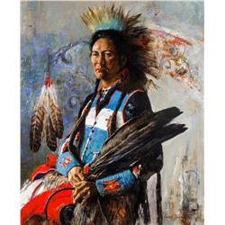 Cyrus Afsary | Plains Indian with Feather Fan