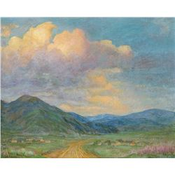 Joseph Henry Sharp | Storm Clouds Over Taos Mountain