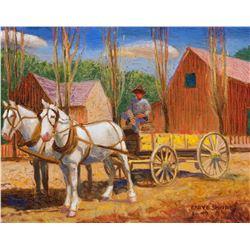 Gary Ernest Smith   Two Horse Farm Wagon