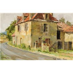 Clark Hulings   Field Sketch, France