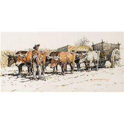 Nick Eggenhofer   Oxen Team Pulling Cart