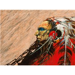 Lawrence Lee   Profile of Indian in Headdress