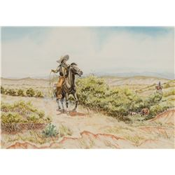 Byron Wolfe | Vaqueros Working the Brush