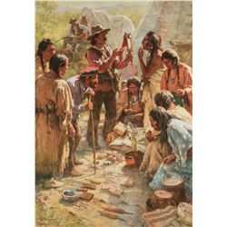 Howard Terpning | Traders Among the Crow
