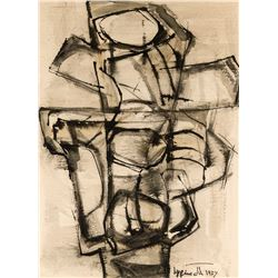 Janet Lippincott   Black and White Abstract