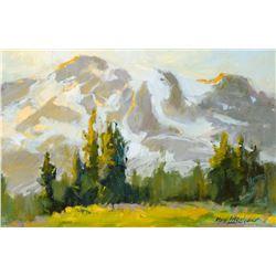 Mimi Litschauer   Sundown Mt. Ranier