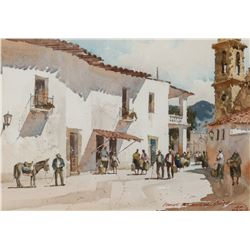 Lowell Ellsworth Smith   Street Scene, Mexico