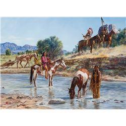 Hubert Wackermann   Cheyenne Moving Camp