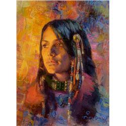 Thomas P. Darro   Young Chiricahua Apache Girl