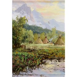 Thomas Dedecker   Blackfoot Camp in Eagle Valley