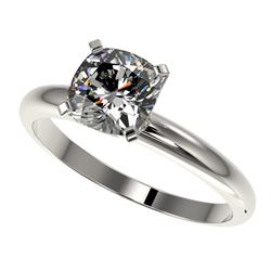 1.25 ctw Certified VS/SI Quality Cushion Cut Diamond Ring 10k White Gold