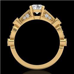 1.03 ctw VS/SI Diamond Solitaire Art Deco Ring 18k Yellow Gold