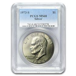 1973-S Silver Eisenhower Dollar MS-68 PCGS