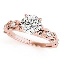 1.1 ctw Certified VS/SI Diamond Antique Ring 18k Rose Gold
