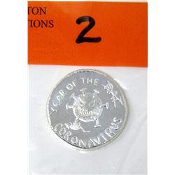 "1 Oz. .999 Silver ""Year of The Corona Virus"" Round"