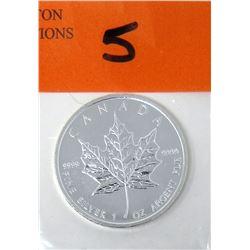 1 Oz .9999 Fine Silver 2011 Canada Maple Leaf Coin
