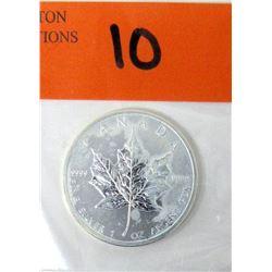 1 Oz .9999 Fine Silver 2012 Canada Maple Leaf Coin