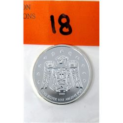 1 Oz. .9999 Silver Vancouver 2010 Olympic Coin