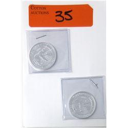 """2 x 1/2 Oz .999 Silver """"2018 Polar Bear """" Coins"""