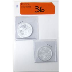 """2 x 1/2 Oz .999 Silver """"Victory in the Pacific"""" Coins"""