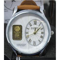New in Box Man's August Steiner Gold Bar Watch