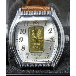New in Box Ladies August Steiner Gold Bar Watch