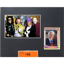 Signed Cesar Romero Trading Card & Photo