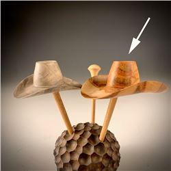 Range Rider Microhat by Johannes Michelsen (maple burl)