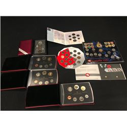 ASSORTED CANADIAN COMMEMORATIVE COIN SETS INC. PROVINCIAL QUARTER SET, REMEMBRANCE DAY SET, AND
