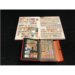 2 BOOKS WITH LARGE QUANTITY OF INTERNATIONAL STAMPS