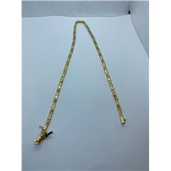 ONE 18KT YELLOW GOLD AND  WHITE GOLD (RHODIUM FINISH) CHOKER LENGTH NECKLACE.