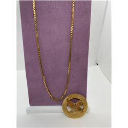 ONE 9KT YELLOW GOLD BOX LINK CHAIN 57CM, WEIGHING  12.0 GRAMS.